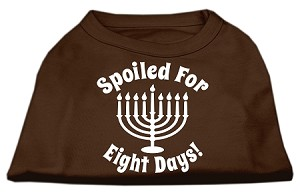 Spoiled for 8 Days Screenprint Dog Shirt Brown Lg (14)